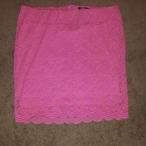 Pink flowery Torrid  skirt